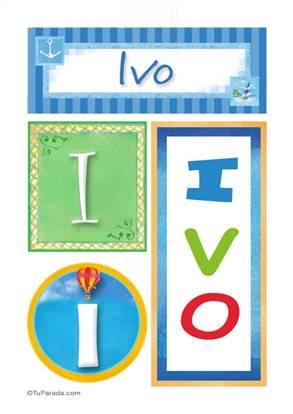 ivo - Carteles e iniciales