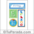 Erling - Carteles e iniciales