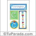 Christopher -Carteles e iniciales