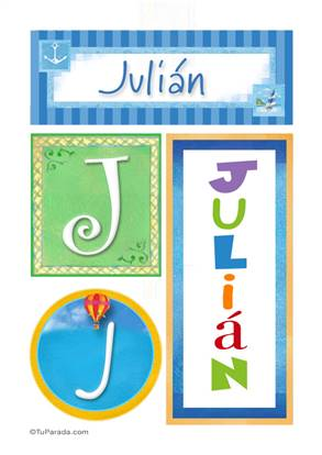 Julián - Carteles e iniciales