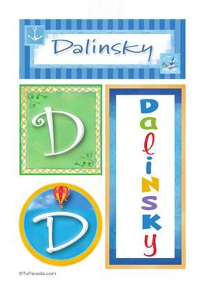 Dalinsky - Carteles e iniciales