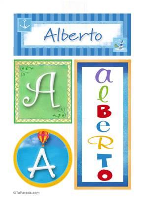 Alberto - Carteles e iniciales