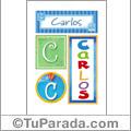 Carlos - Carteles e iniciales