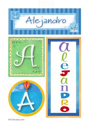 Alejandro - Carteles e iniciales