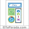 Onix - Carteles e iniciales