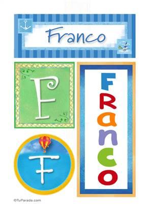 Franco - Carteles e iniciales