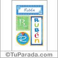 Rubén - Carteles e iniciales