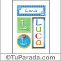 Luca - Carteles e iniciales