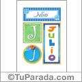 Julio - Carteles e iniciales