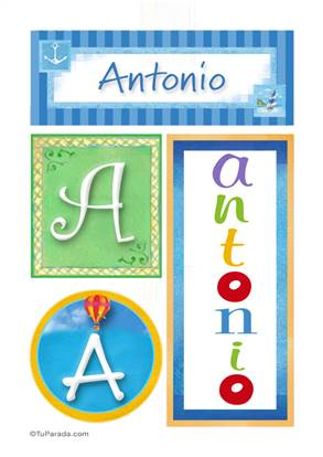 Antonio - Carteles e iniciales