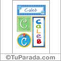Caleb - Carteles e iniciales