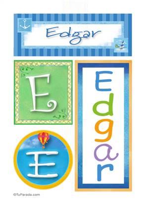 Edgar - Carteles e iniciales