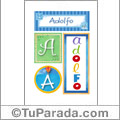 Adolfo - Carteles e iniciales