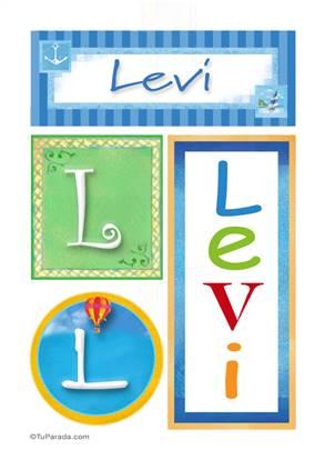 Levi -Carteles e iniciales