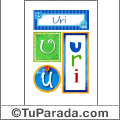Uri - Carteles e iniciales