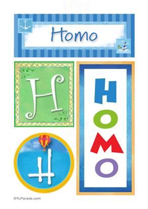 Homo - Carteles e iniciales