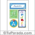 Andrés - Carteles e iniciales