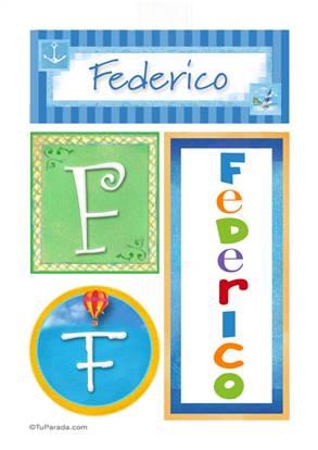 Federico - Carteles e iniciales