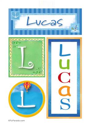 Lucas - Carteles e iniciales