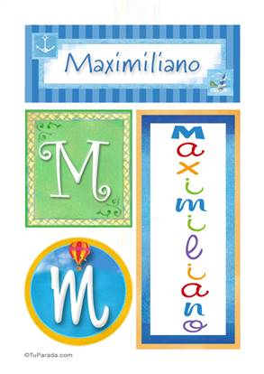 Maximiliano - Carteles e iniciales