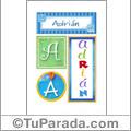 Adrián - Carteles e iniciales