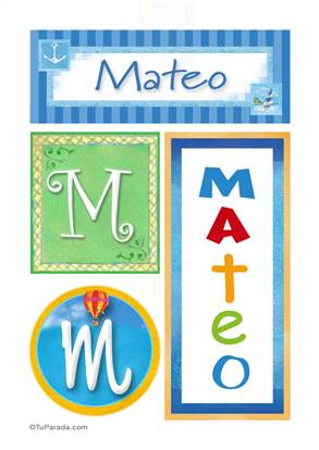 Mateo - Carteles e iniciales
