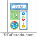 David - Carteles e iniciales