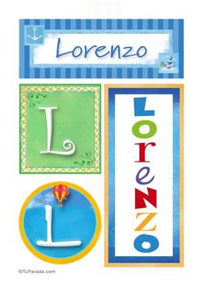 Lorenzo - Carteles e iniciales