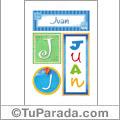 Juan - Carteles e iniciales