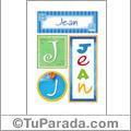 Jean - Carteles e iniciales