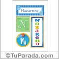 Nazareno - Carteles e iniciales
