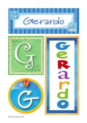 Gerardo - Carteles e iniciales