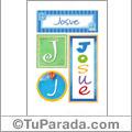 Josue - Carteles e iniciales