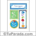 Sergio - Carteles e iniciales