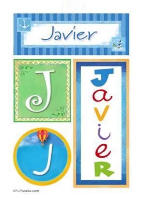 Javier - Carteles e iniciales