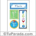 Flavio - Carteles e iniciales