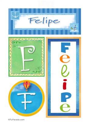 Felipe - Carteles e iniciales