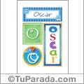 Oscar - Carteles e iniciales