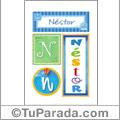 Néstor - Carteles e iniciales