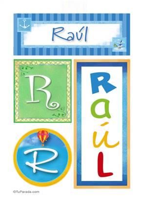 Raúl - Carteles e iniciales