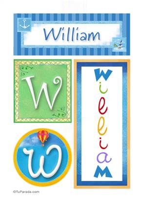 William - Carteles e iniciales