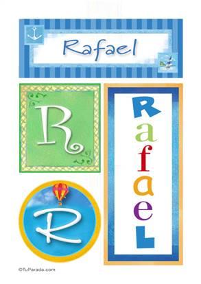 Rafael, nombre, imagen para imprimir