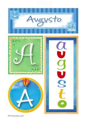 Augusto, nombre, imagen para imprimir