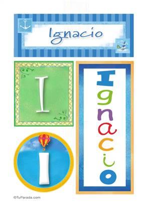 Ignacio, nombre, imagen para imprimir
