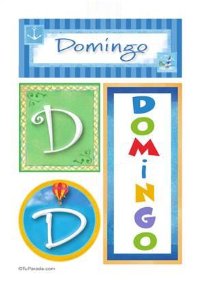 Domingo, nombre, imagen para imprimir