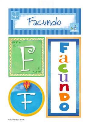 Facundo, nombre, imagen para imprimir