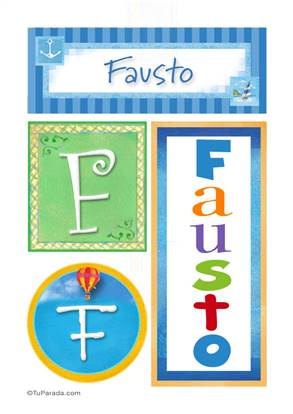 Fausto, nombre, imagen para imprimir