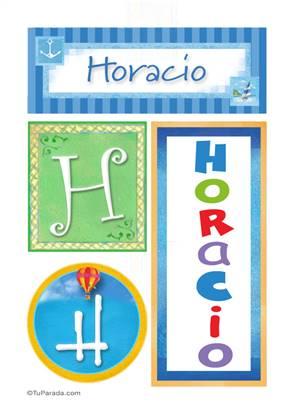 Horacio, nombre, imagen para imprimir