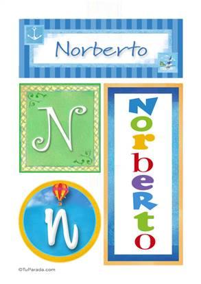 Norberto, nombre, imagen para imprimir