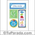 Germán, nombre, imagen para imprimir